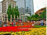 Portland Festival of Flowers in Pioneer Square