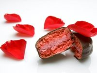 Valentine's Day @ Pix PatiserieChocolate Covered Cherry Macaron 2014