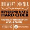 Rev Nat Cider Brewers Dinner Whole Foods
