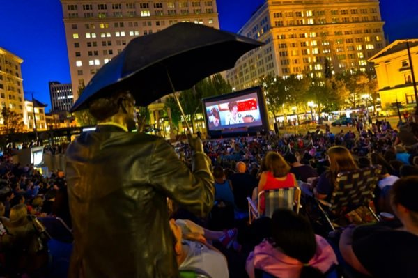 On Five Friday Evenings In July And August, The Square Will Be Transformed  Into Portlandu0027s Largest Outdoor Movie Theater For The Entire Community To  Enjoy!