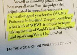 Pix Patisserie Wine LIst