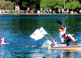 Milk Carton Boat Race