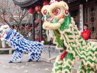 Chinese New Year Lion Dances at Lan Su Chinese Garden