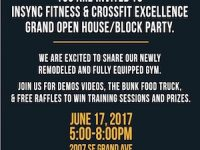 You are Invited to INSYNC Fitness & Crossfit Excellence Grand Open House / Block Party