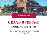 Tumwater Vineyard Grand Opening
