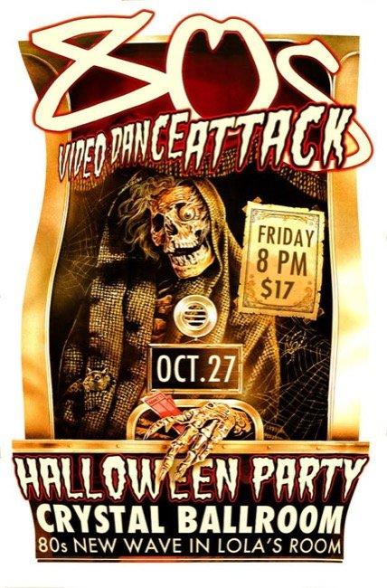 80s Video Dance Attack's MONSTER 2-Floor Halloween Party! October 27, 2017 8 p.m.   $17   21+. More info: 80svideodanceattack.com
