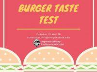 OSU Burger Taste Test