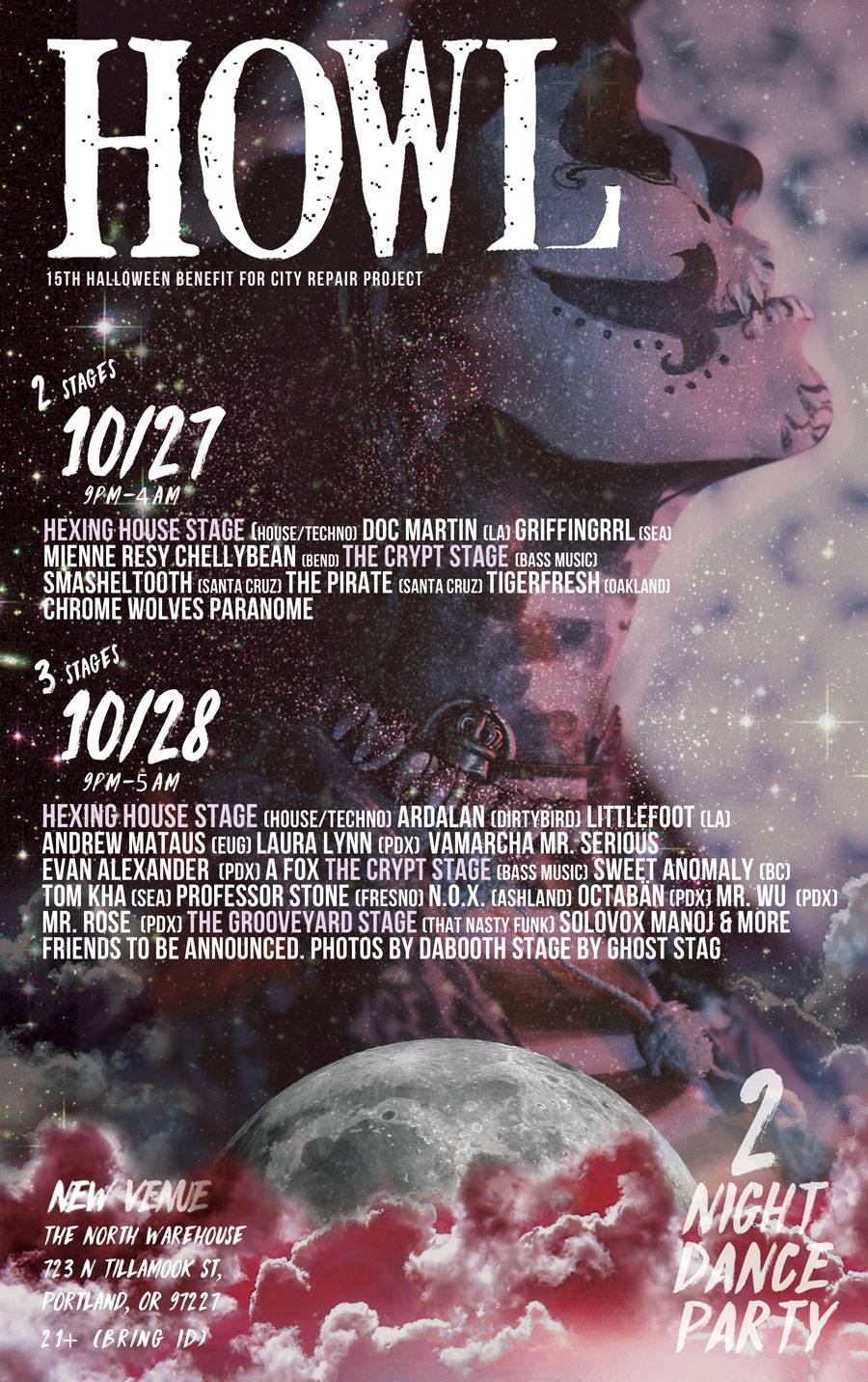 Portland Howl 2017 Halloween Party @ The North Warehouse | 2 ...