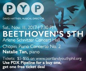 Win Tickets Portland Youth Philharmonic Presents Beethovens - Arlene schnitzer tickets