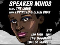 Speaker Minds//The Lique//evv'n'flo at The Goodfoot
