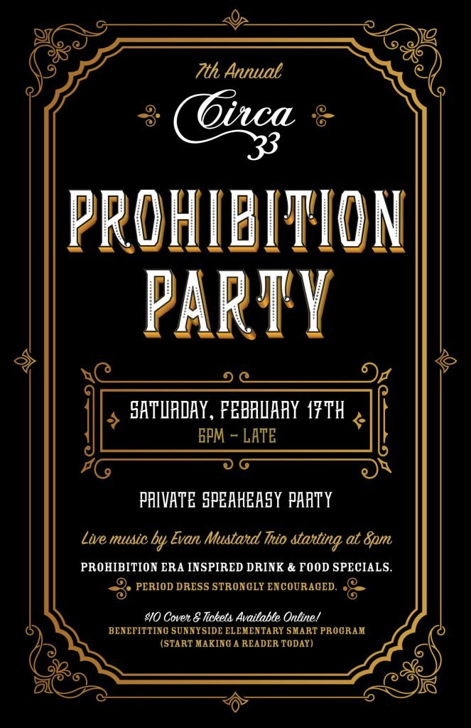 2018 Prohibition Party Circa 33 Portland Valentine S Day Weekend