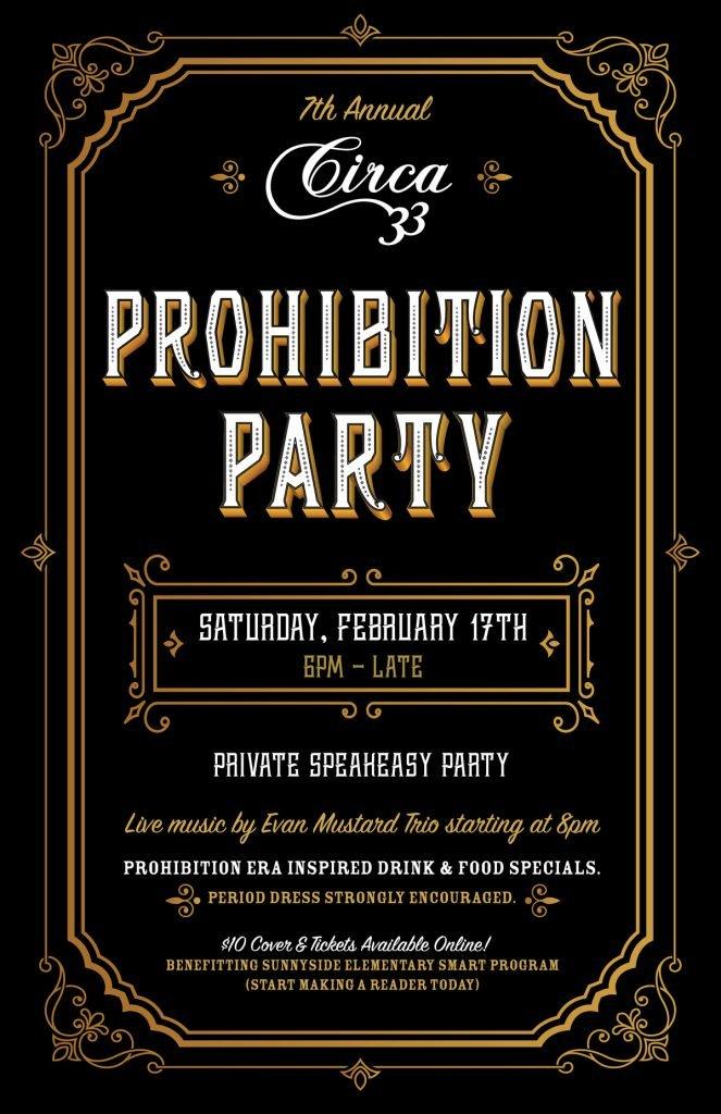 2018 Prohibition Party @ Circa 33 | Portland Valentine's ...