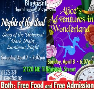 Double feature weekend w blueprint choral ensemble free all ages double feature weekend w blueprint choral ensemble april 7 8 2018 saturday 707 pm sunday 607 pm free food free admission all ages malvernweather Images