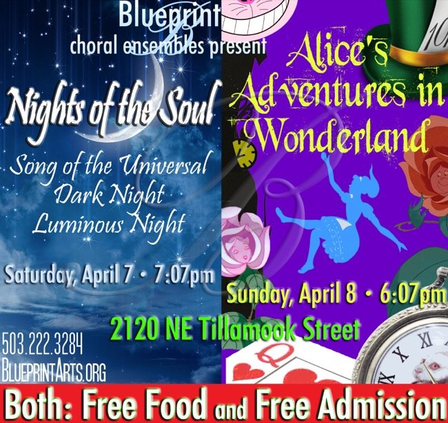 Blueprint choral ensemble presents alices adventures in wonderland venue blueprint choral ensemble concerts malvernweather Image collections