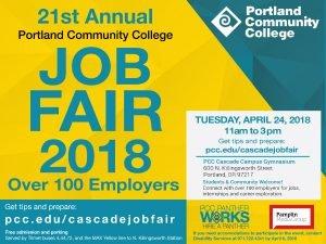 spring cascade job fair april 24 2018 11a 3p free all ages more info pcceducascadejobfair