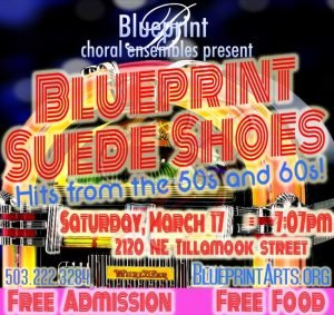 Blueprint choral ensemble presents blueprint suede shoes all ages blueprint suede shoes march 17 2018 707 pm free all ages more info blueprintarts malvernweather