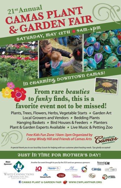 2018 Camas Plant & Garden Fair | Portland Mother\'s Day Weekend, Gift ...