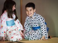 Yukata dress-up at Portland Japanese Garden's Children's Day celebration. Photo by Jonathan Ley.