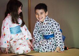 Yukata dress-up at Portland Japanese Garden's Children's Day celebration. Photo by Jonathan Ley.