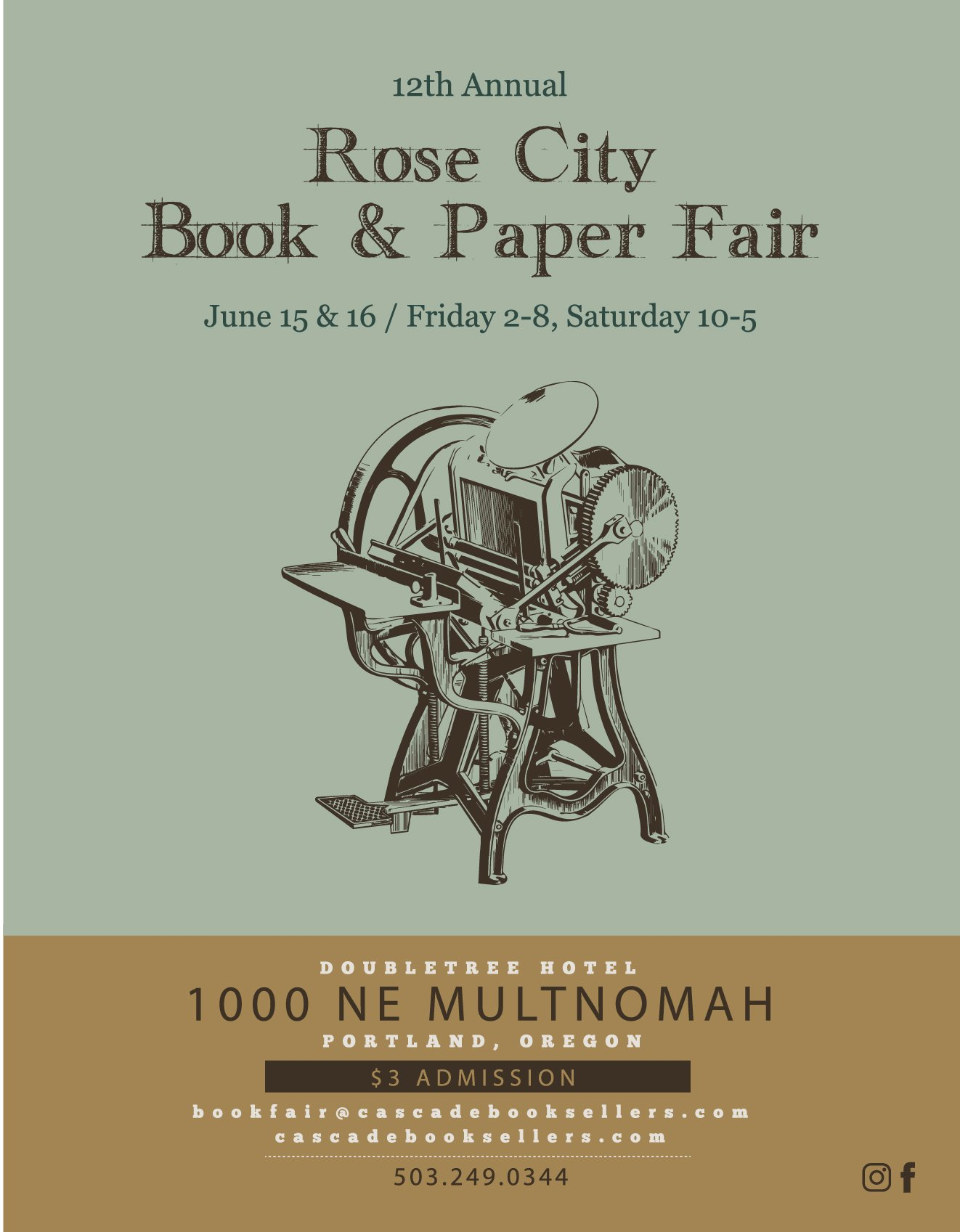 2018 Rose City Book & Paper Fair @ DoubleTree at Lloyd Center | 60+