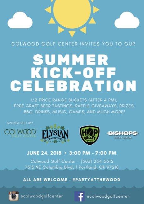 FREE Summer KickOff Celebration Colwood Golf Center Beer