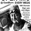 EastBurn Open Mic flyer - new time