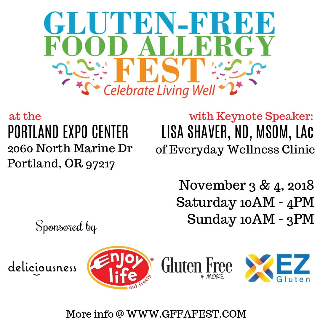 gluten-free food allergy fest @ portland expo center | featuring 90