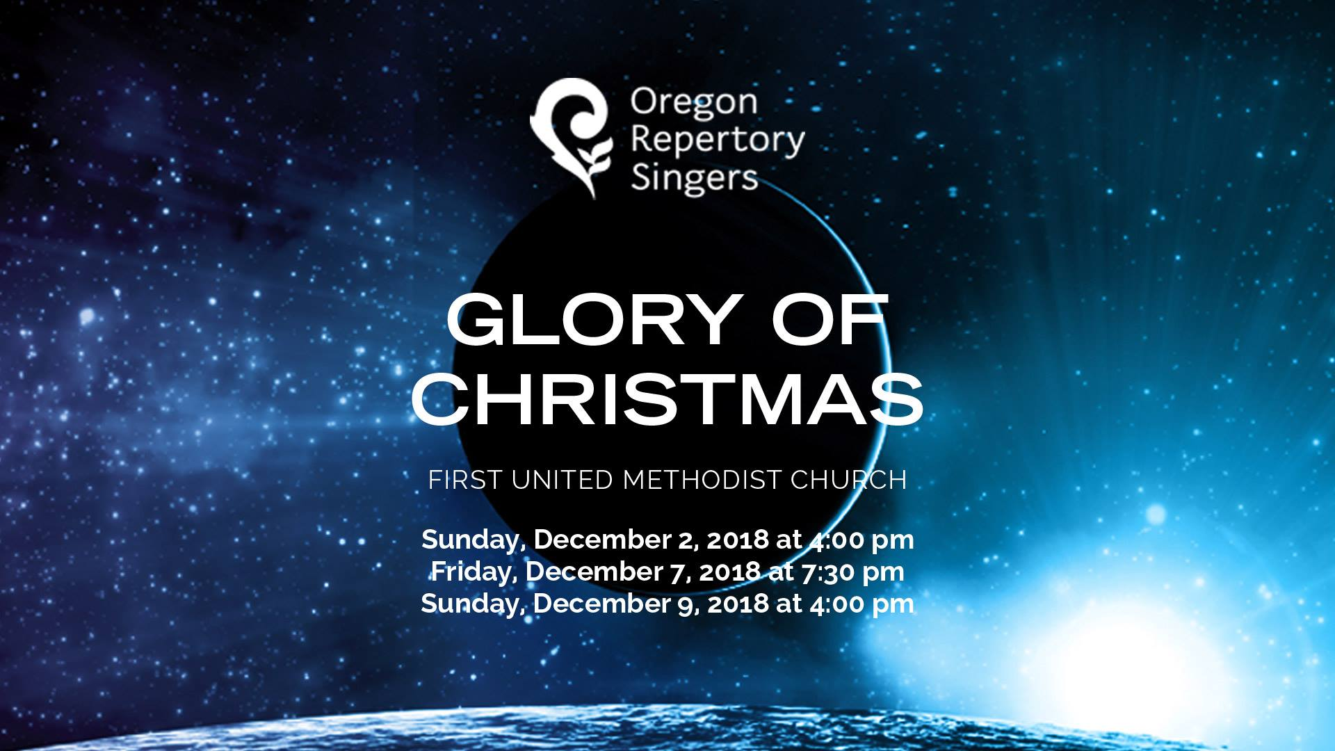 oregon repertory singers: glory of christmas @ first united