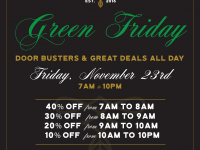 Green Friday at Parlour Cannabis Shoppe