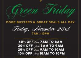 Green Friday at Parlour Cannabis Shoppe