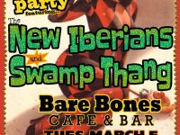 Fat Tuesday celebration at the Bare Bones with Swamp Thang