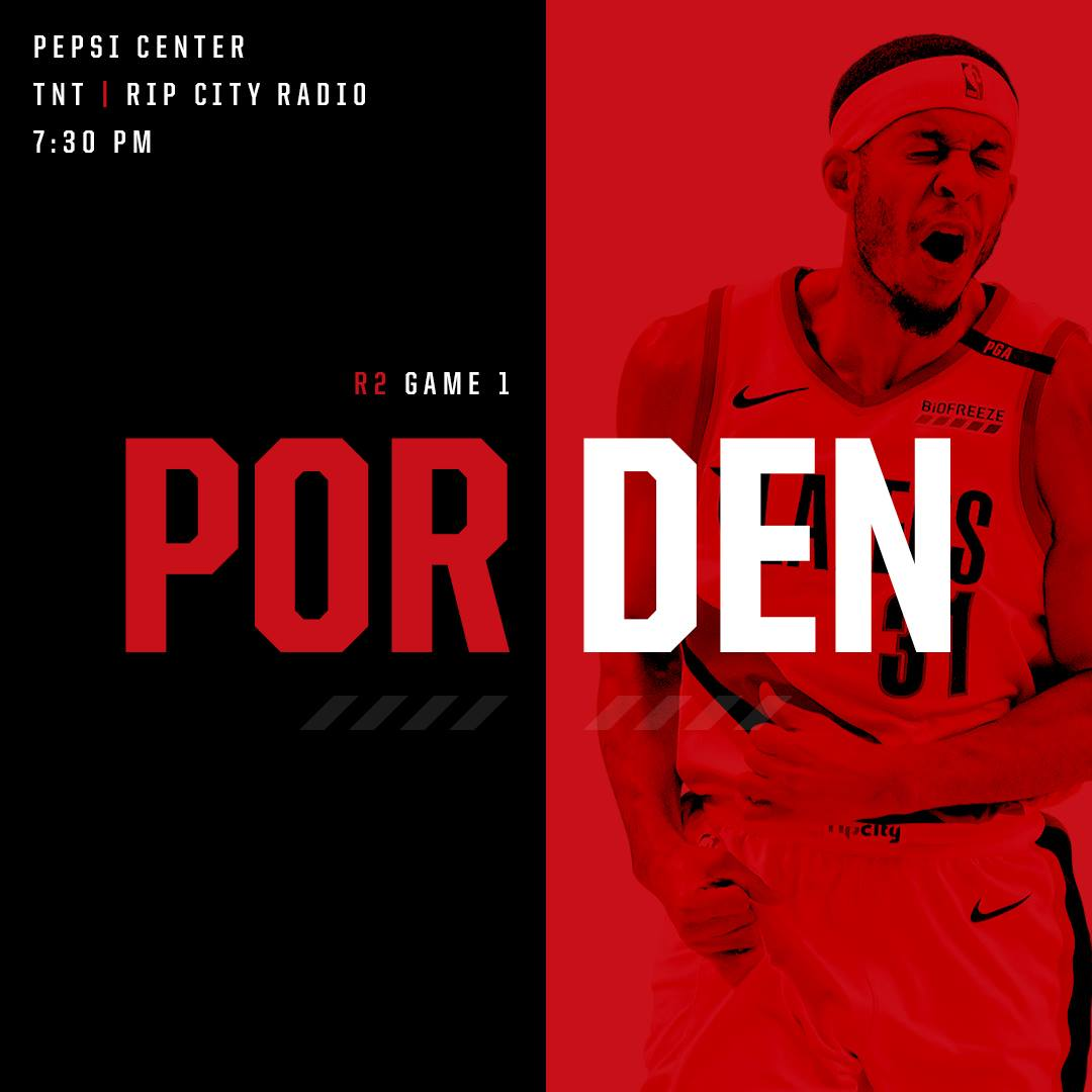 Trail Blazers Playoff Game 1 Vs Denver Nuggets + Where To