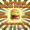 happy hour burger bonanza