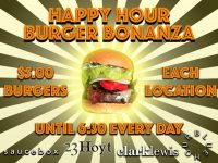 happy hour burger bonanza