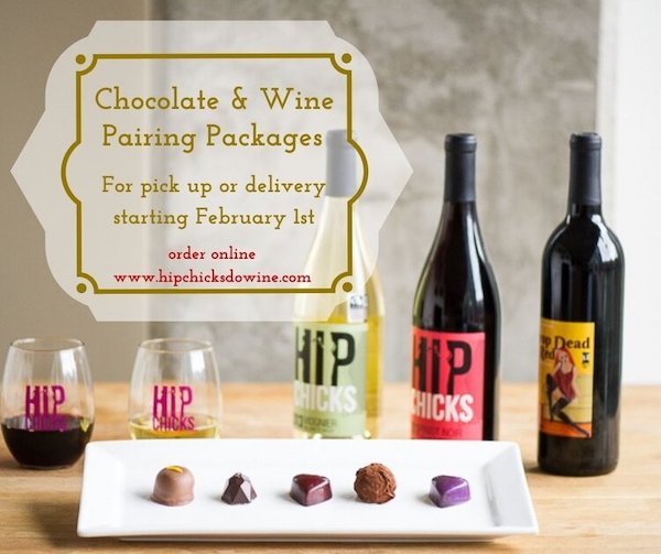 hip chicks wine and choclate