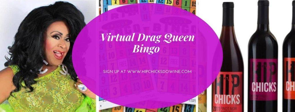 virtual drag queen bingo hip chick